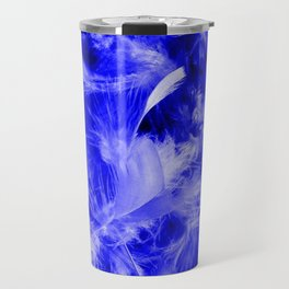 Colorful Feathers,blue Travel Mug