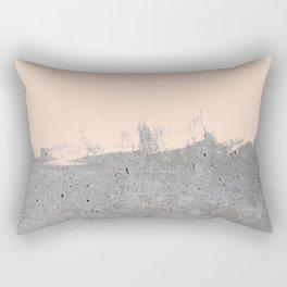 Pale Peach Concrete Rectangular Pillow