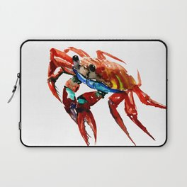 Crab, Sea World Crab Artwork, red crab, restaurant kitchen sea world art Laptop Sleeve