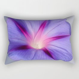 Close Up of A Morning Glory Purple and Pink Flower Rectangular Pillow