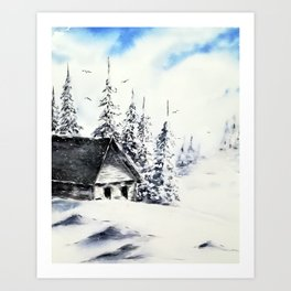 Winter day sunshine Art Print