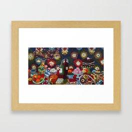 Tablescape Framed Art Print
