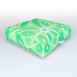 Kiwi green geometric Outdoor Floor Cushion