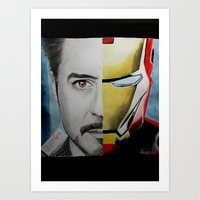 tony stark Art Prints featuring Tony Stark by Goolpia