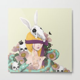 blind girl Metal Print