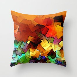 towel full of colors -6- Throw Pillow