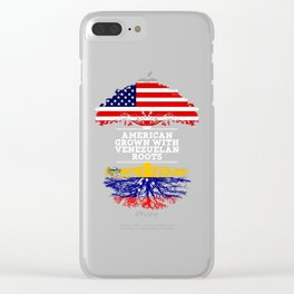 American Grown With Venezuelan Roots Clear iPhone Case