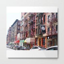 New York Street - Chinatown Metal Print