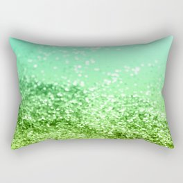 Tropical Beach Lady Glitter #4 #shiny #decor #art #society6 Rectangular Pillow
