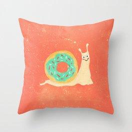 Donut snail Throw Pillow