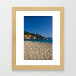 Lichnos beach close to Parga (Greece) Framed Art Print