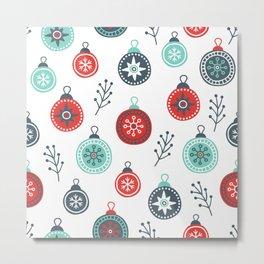Winter pattern Metal Print
