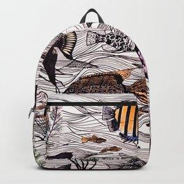 Tropical fish surf school Backpack