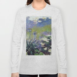 Claude Monet - Agapanthus Long Sleeve T-shirt