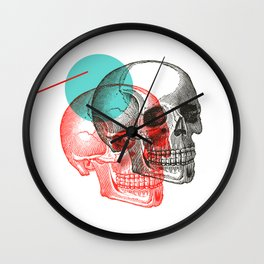 Twinskulls Wall Clock