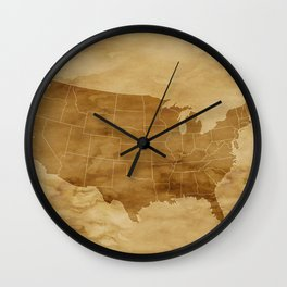 United States USA Vintage Map Wall Clock