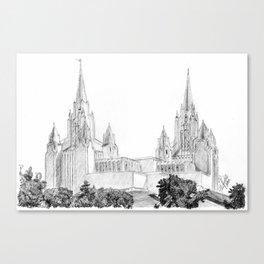 San Diego LDS Temple Canvas Print