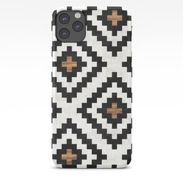 Urban Tribal Pattern No.16 - Aztec - Concrete and Wood iPhone Case