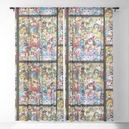 Nintendo Tribute Sheer Curtain