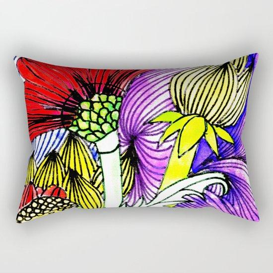 Flowers Two Rectangular Pillow
