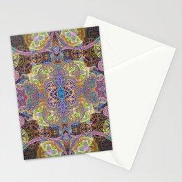 Friendship and Peacefulness Tibetan Inspired Boho Mandala Illustration Stationery Cards