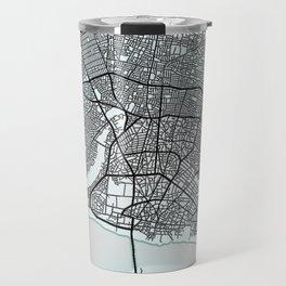 Porto-Novo, Benin, White, City, Map Travel Mug