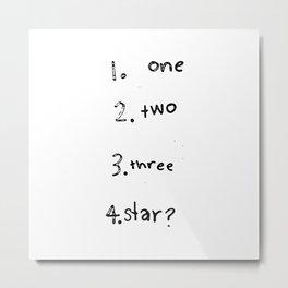 1234 Star? Metal Print