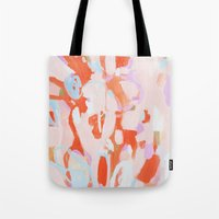 tooth Tote Bags featuring Sweet Tooth by Emily Rickard