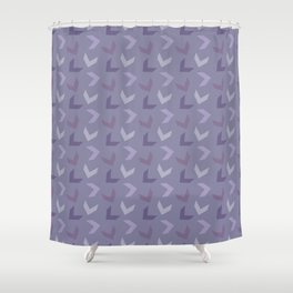 Random Arrows in Lavenders Shower Curtain