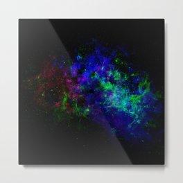 4G-Nebular Neon Metal Print