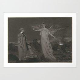 Chamberlain and the Angel of Peace, Johan Braakensiek, 1868 - 1940 Art Print