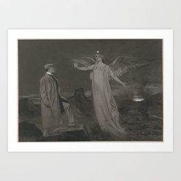 Chamberlain and the Angel of Peace, Johan Braakensiek, 1868 - 1940 Art Print