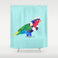 rogue Shower Curtains featuring The Rogue Sailor  by Amaya