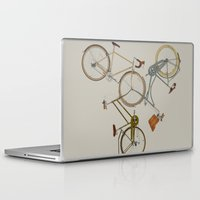 bicycles Laptop & iPad Skins featuring bicycles by Golden Boy