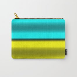 Yellow & Cyan Horizontal Stripes Carry-All Pouch