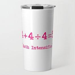 Hardest Math Problem in the World Funny Equation Travel Mug