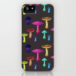 Bohemian Mushroom Party iPhone Case