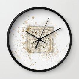 Vintage Tin Sketch Wall Clock