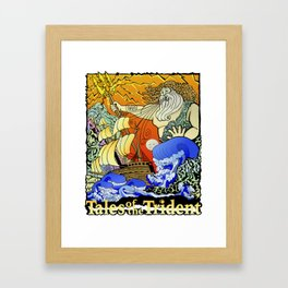 Tales of the Trident:Poseidon with Title Framed Art Print