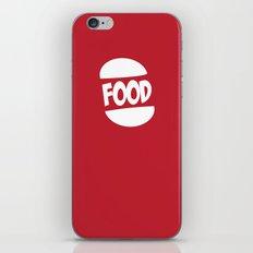 FOOD logo fun generic food logo iPhone & iPod Skin