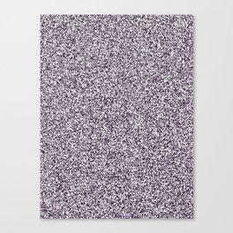 Spacey Melange - White and Dark Purple Canvas Print
