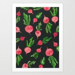 Radishing Art Print