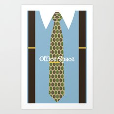 Office Space Minimal 01 Art Print