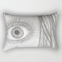 Black & White Eye Sketch Rectangular Pillow