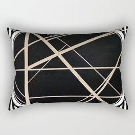 Crossroads - circle/line graphic Rectangular Pillow