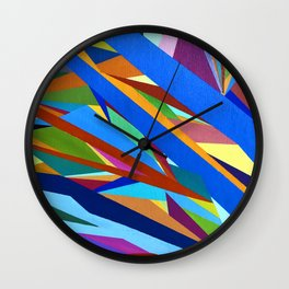 Blue River I Wall Clock