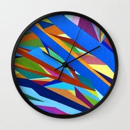 Blue River I Wall Clock