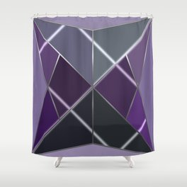 Mosaic tiled glass with a laser show Shower Curtain