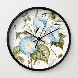 Morning Glories Wall Clock