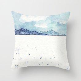 Salt Flats Throw Pillow